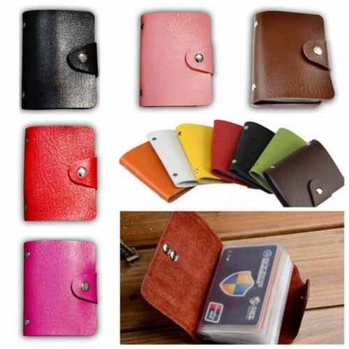 12 Cards PU Leather ID Credit Card Holder Card Wallet ID Mini Unisex New Purses 2