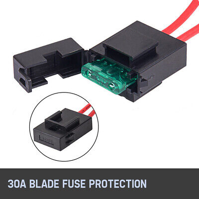 2-Way Wiring Loom Harness Kit 12V Relay Rocker Switch 30A Fuse For LED Light Bar 5
