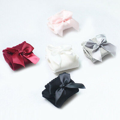 Baby Girls + Girls 3/4Knee High Socks Satin Bow Ribbon Romany Spanish 0-4 Years 4