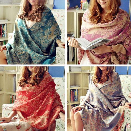 Lady Women Long Warm Cashmere Scarf Wrap Large Winter Shawl Stole Pashmina 3