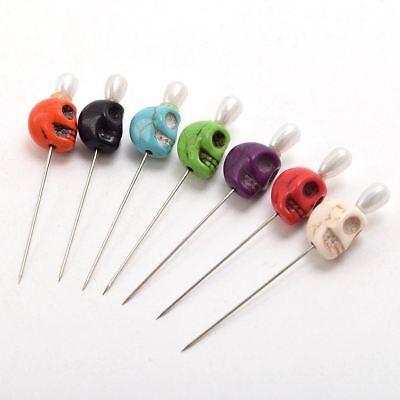 7pcs Skull Head Pattern Pins Evil Voodoo Curse Needles Voodoo Doll Accessory 3