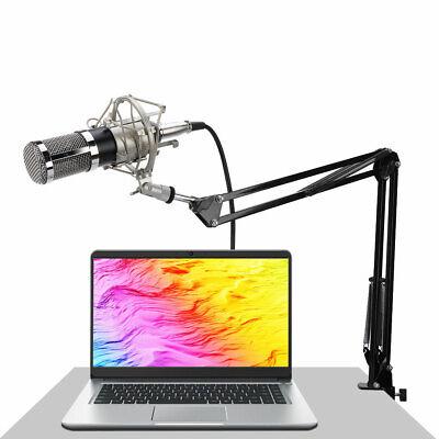 BM800 Condenser Microphone Audio Mic Stand Kit for Studio Recording Broadcasting 4