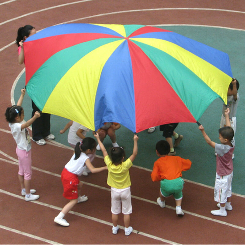 2-4M Kids Play Parachute Large Children Rainbow Outdoor Game Exercise Sport Toy 3