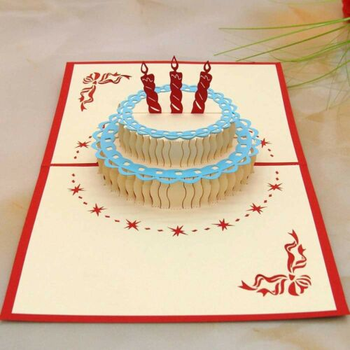3d Sprinkles Gifts Laser Cut Out Greeting Happy Birthday Cake Cards