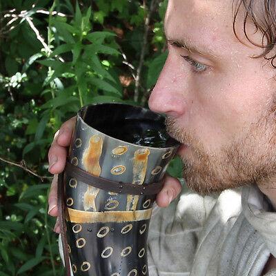 Viking Drinking Horn Norman Leather Holder 6
