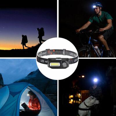 6 Modes USB Rechargeable COB LED Headlamp Headlight Head Light Torch Flashlight 3