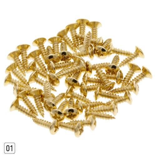 50PCS Screws for Guitar Bass Pickguard Back Plate Tuning Pegs Jack Best