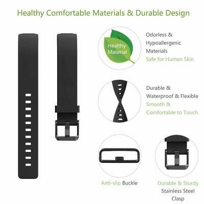 For Fitbit Inspire / Inspire HR Replacement Silicone Wristband Strap Watch Band 3