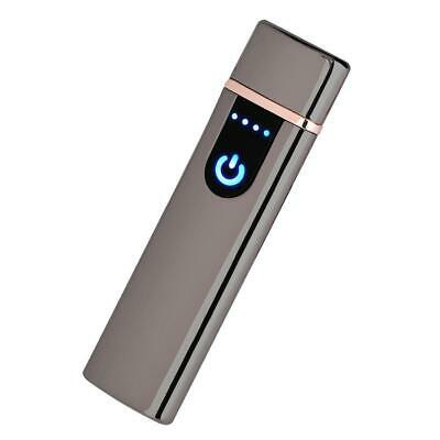 Electric Lighter Usb Rechargable Windproof Flameless Finger Print Gentle Touch 11