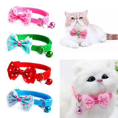 Pet Bowknot Necktie Collar Cute Bow Tie Bell Kitten Puppy Adjustable Dog Cat  BY 2