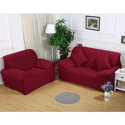 Universal Stretch Chair Sofa Covers 1 2 3 4 Seater Protector Couch Slipcover US 5