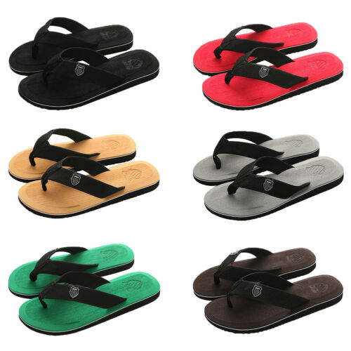 Summer Leisure Men's Flip Flops Beach Slippers Shoes Cosy Massage Thong Sandals 2