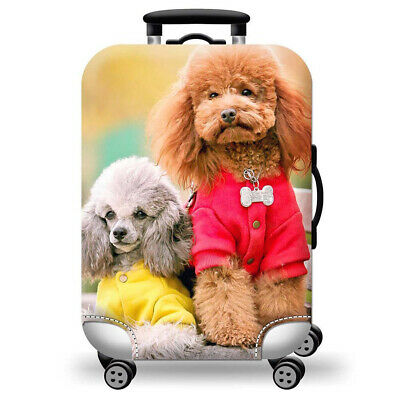 Printed Travel Suitcase Protective Cover Luggage Protector Elastic Dust proof 10