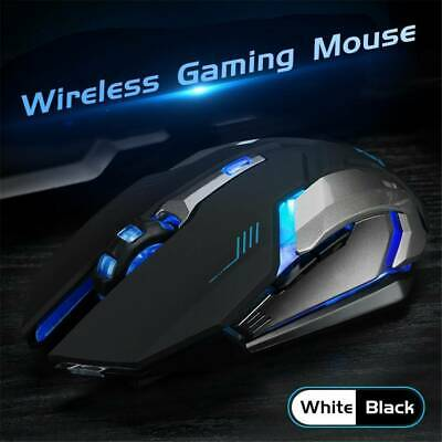 Led Laser Usb Wireless Optical Game Gaming Mouse Rechargable X7 3
