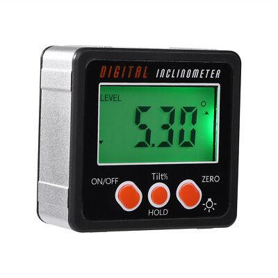 Mini LCD Digital Inclinometer Protractor Bevel Box Angle Gauge Magnet Base 7