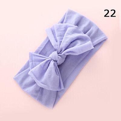 Baby Girls Kids Toddler Bow Hairband Headband Stretch Turban Knot Head Wrap H9 9