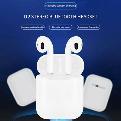 i12 TWS Bluetooth 5.0 Earbuds Wireless Headphones Earphones For iphone Android 10