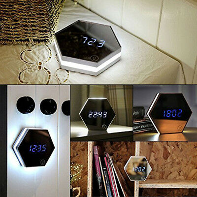 Thermometer Touch Night Light Make-up Mirror 4in1 Multi-fonction Alarm Clock