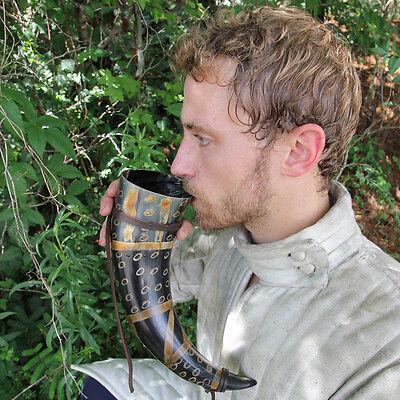 Viking Drinking Horn Norman Leather Holder 5