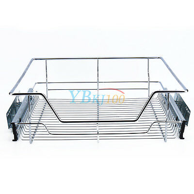 10 Of 12 Shelf U0026 Cabinet Sliding Drawer Organizer Metal Pull Out Storage  Wire Basket Bin