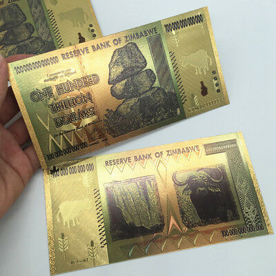 100 Trillion Zimbabwean Dollar Commemorative Banknote Non-currency Collection 6