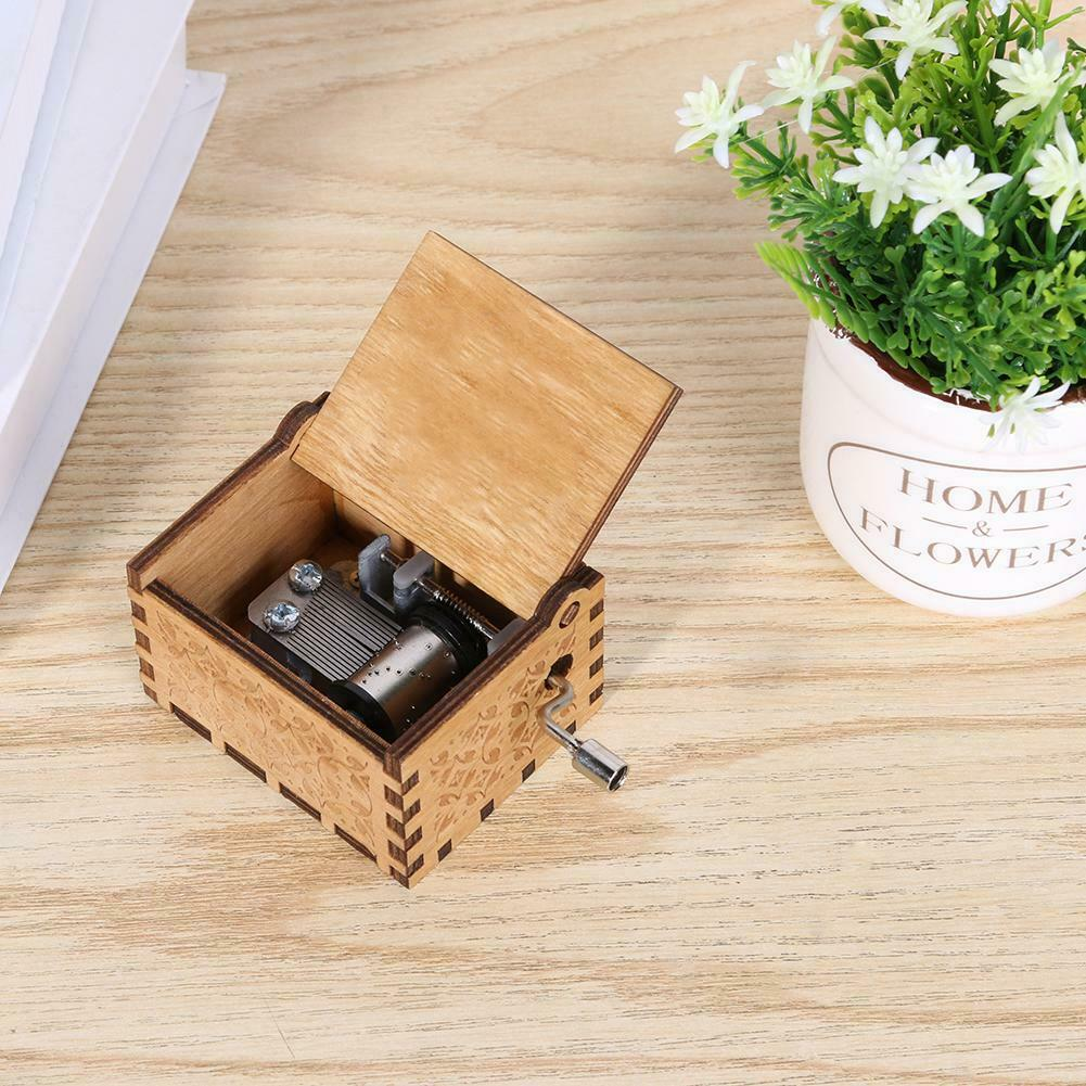 Game of Thrones engraved Handmade Wooden music Box Harry Potter Star Wars Toys 9