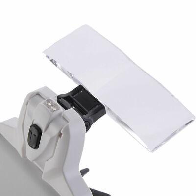 Occhiali con Lente di Ingrandimento 5 Lenti e Luci LED per Lavoro di Precisione 8