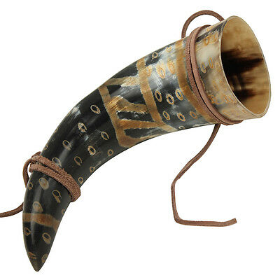 Viking Drinking Horn Norman Leather Holder 7