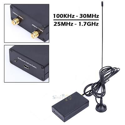 100KHz-1.7GHz UV HF RTL-SDR USB Tuner Receiver/ R820T2+8232 with Antenna