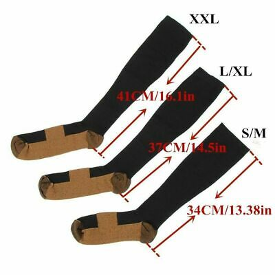 6 Pairs Copper Fit Energy Knee High Compression Socks, SM L/XL XXL Free Ship USA 12