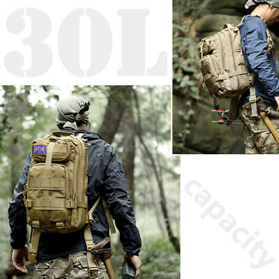 Military Tactical Army Backpack Rucksack Camping Hiking Trekking Outdoor Bag 30L 7
