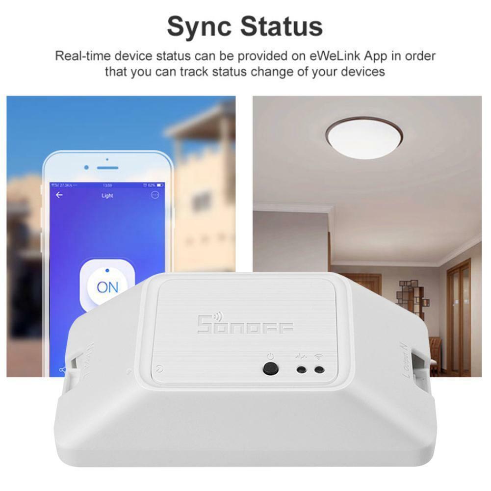 Sonoff Basic R3 RF Wireless Lichtsteuerung Switch WiFi Modul Überwachung Alexa