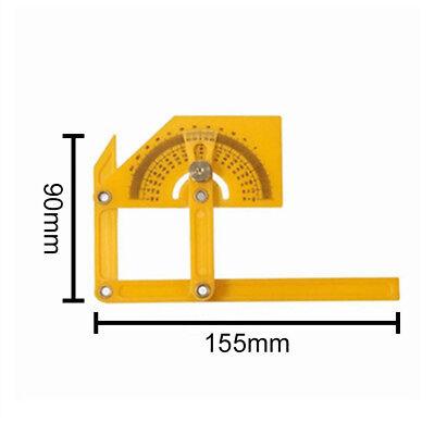 Plastic Angle Finder Protractor Goniometer Miter Gauge Arm Measuring Ruler Tool 5