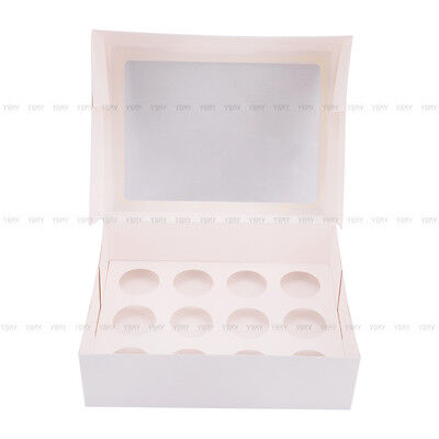 Cupcake Box Cases 1 hole 2 hole 4 hole 6 hole 12 hole 24 hole Window Face Gift 8