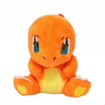 Detective Pikachu 4PCS Pokemon Bulbasaur Squirtle Charmander Stuffed Plush Toy 3