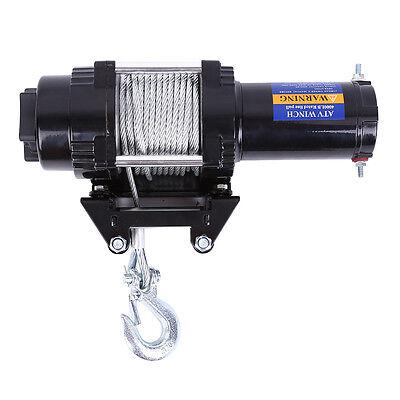 12V Elektrische Seilwinde Motorwinde Offroad 12 Volt 1818kg Funkfernbedienung AL