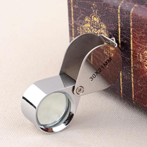 30x Juwelier Schmuck Vergrößerungs glas Reparatur Uhrmacher Lupe* ._DED D6J3 4