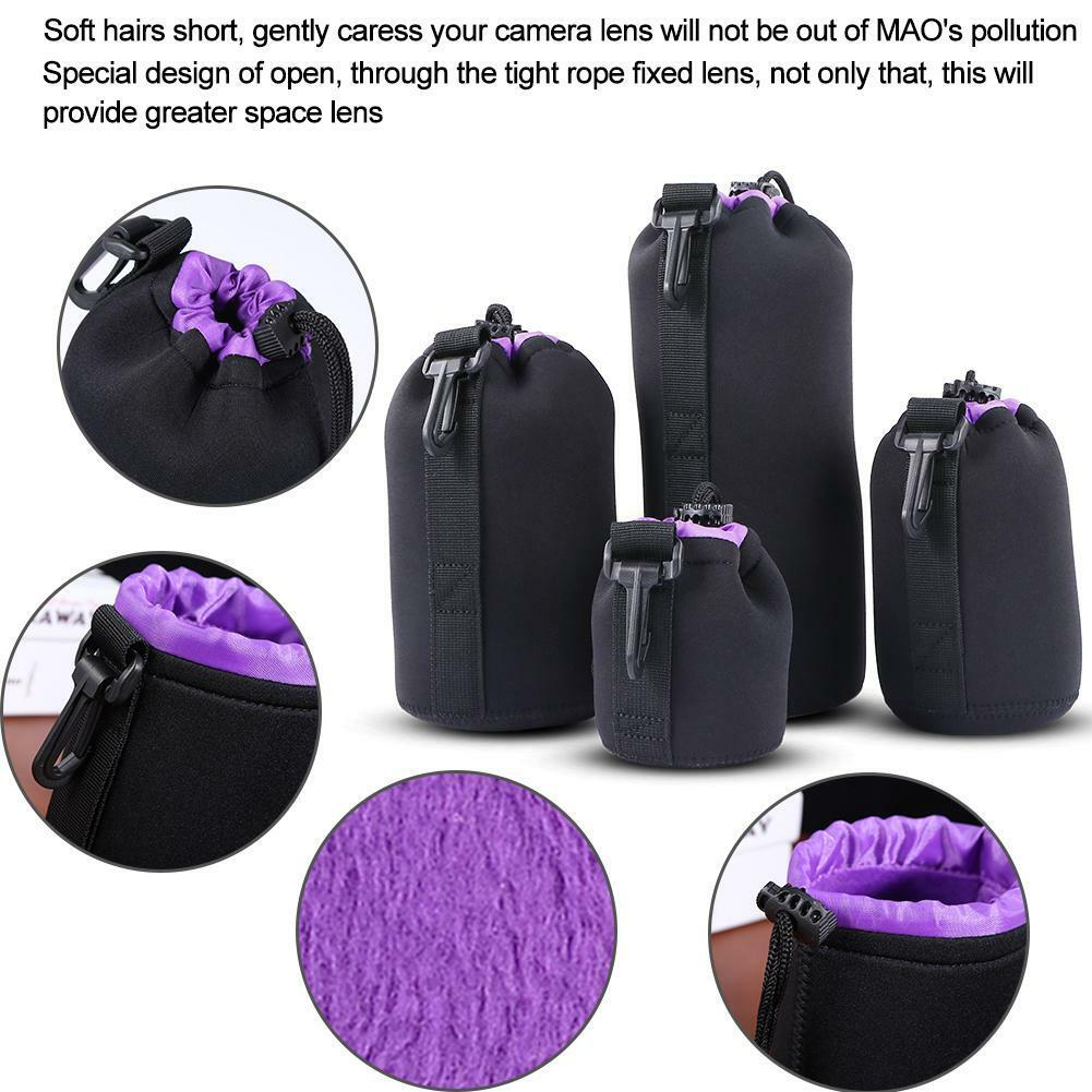 S-XL Waterproof Neoprene Lens Pouch Bag Protective Case for Digital SLR Camera 8