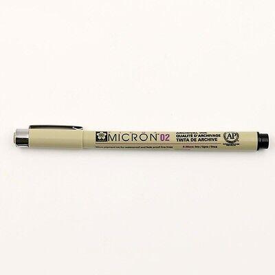 8X Micron Fine Line Pen 005 01 02 03 04 05 08 BRUSH Kunsthandwerk Kunstbedarf 4