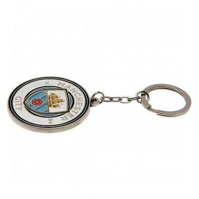 Manchester City FC Official Football Club Crest  Keyring FREE (UK) P+P 2