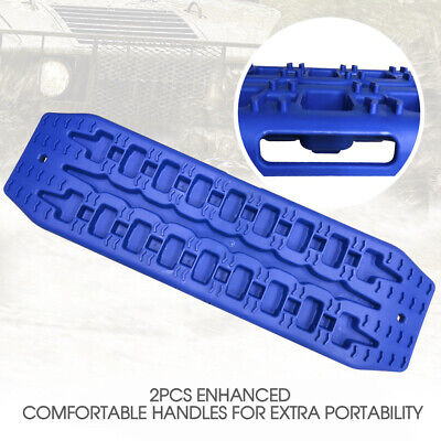 NEW Pair Recovery Tracks Sand Track 2pc 10T Sand / Snow / Mud Trax 4WD Blue 2