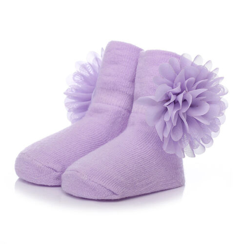 Cute Baby Girl NewBorn Princess Lace Flowers Infant Toddler Soft Cotton Socks