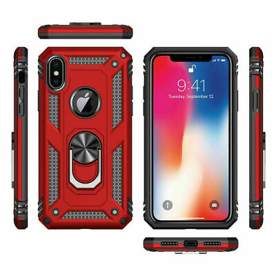 For iPhone XR 7 8 11 Pro Max Shockproof 360 Magnetic Ring Stand Armour Case 6