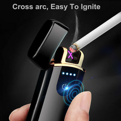 Smart Touch Sensor USB Rechargeable Double Arc Flameless Plasma Electric Lighter 4