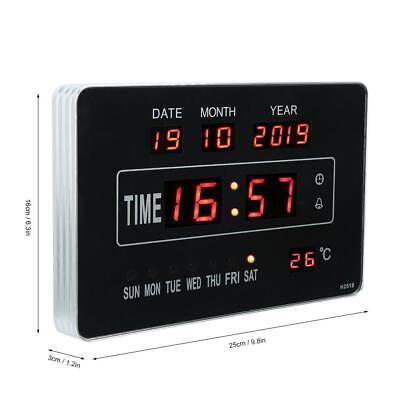 Calendrier électronique multifonctionnel avec horloge numérique et affichage 9