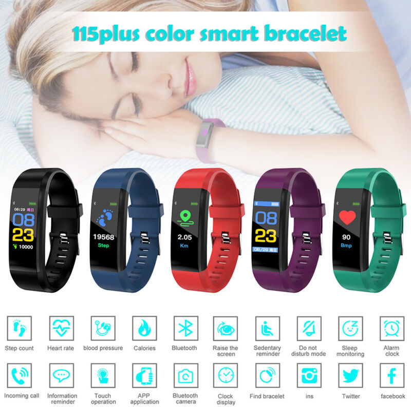 Fitness Smart Watch Activity Tracker WomenMen Kids Fitbit Android iOS Heart Rate 2
