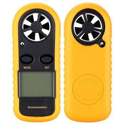 Mini LCD Wind Speed Gauge Air Velocity Meter Digital Anemometer NTC Thermometer 3