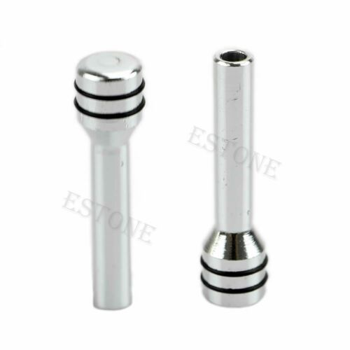4Pcs Silver Universal Car SUV Aluminum Inside Interior Door Lock Knob Pins Cover