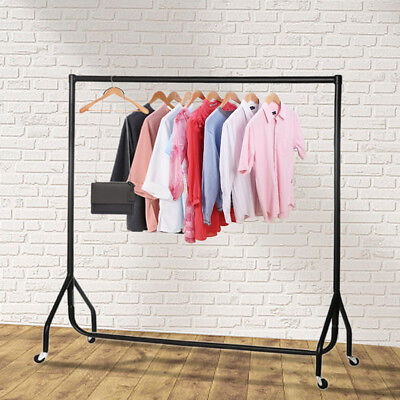 Super Heavy Duty Garment Clothes Rail Metal Garment Hanging Display Stand Rack 3