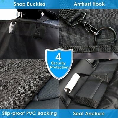 Car Rear Back Seat Cover Pet Dog Cat Auto Protector Waterproof Hammock Mat UK